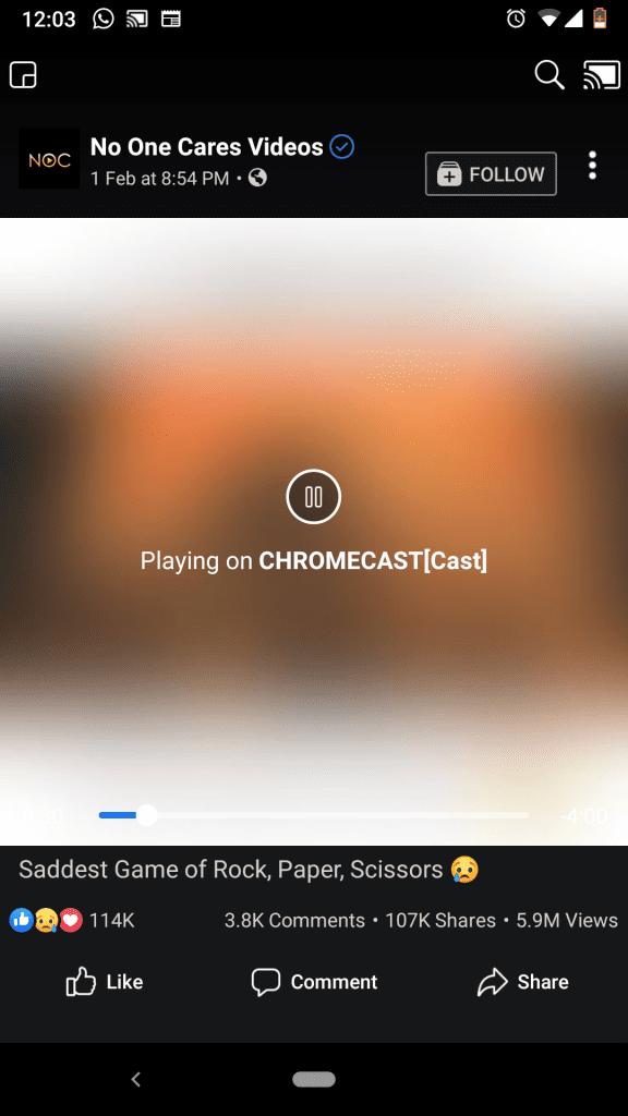 How to Chromecast Facebook Videos to TV?
