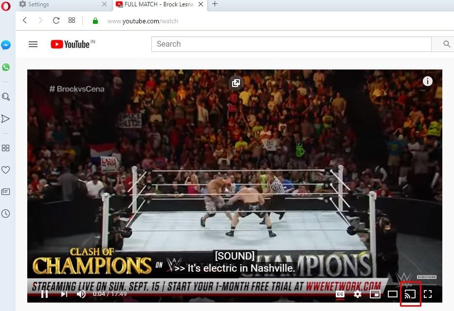 How to Chromecast Opera Browser to TV?