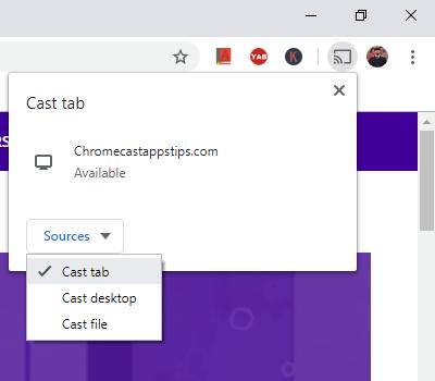 cast tab