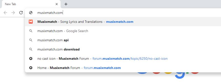 Musixmatch on Chromecast
