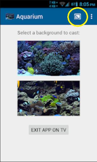 Chromecast Aquarium