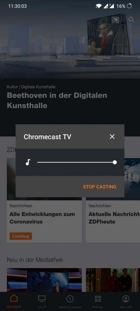 ZDF Chromecast
