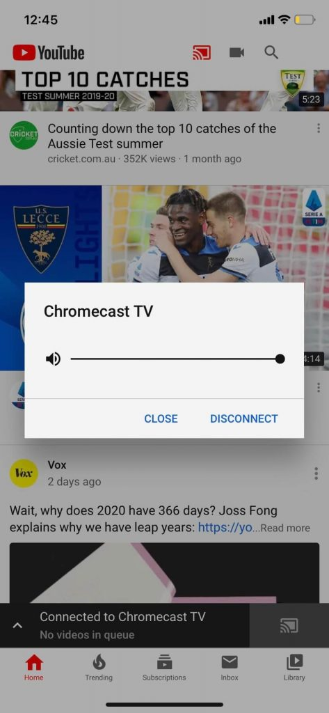 turn off chromecast
