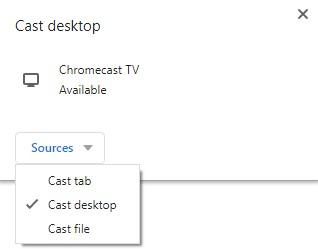 Cast desktop