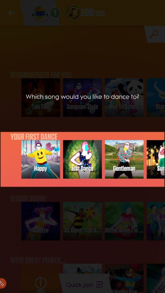 Select song