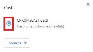 Select device - Chromecast Peacock TV