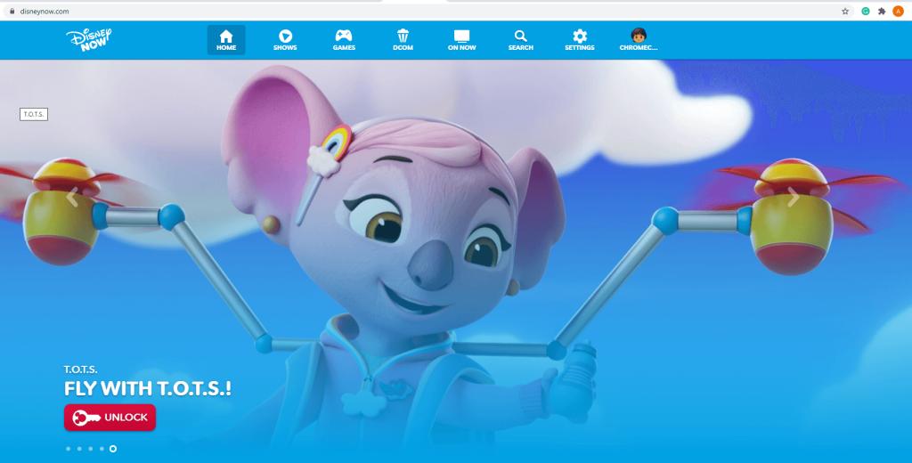 Chromecast DisneyNOW