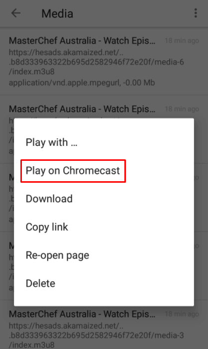 play on chromecast