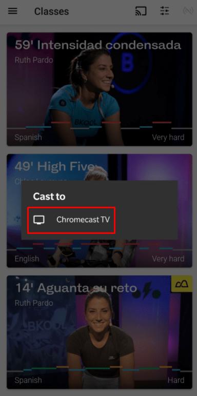 Chromecast Bkool