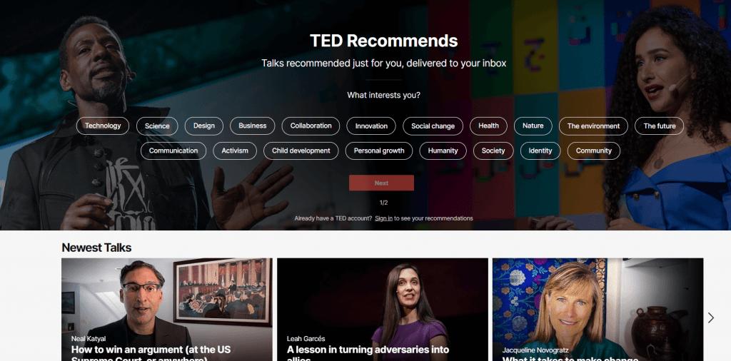 Chromecast TED talks