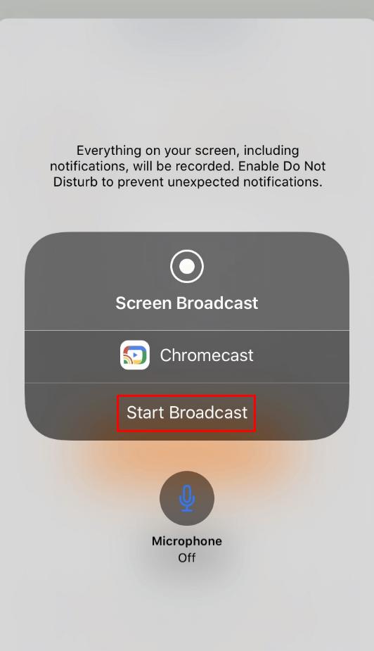 start broadcast - Chromecast GOM Player