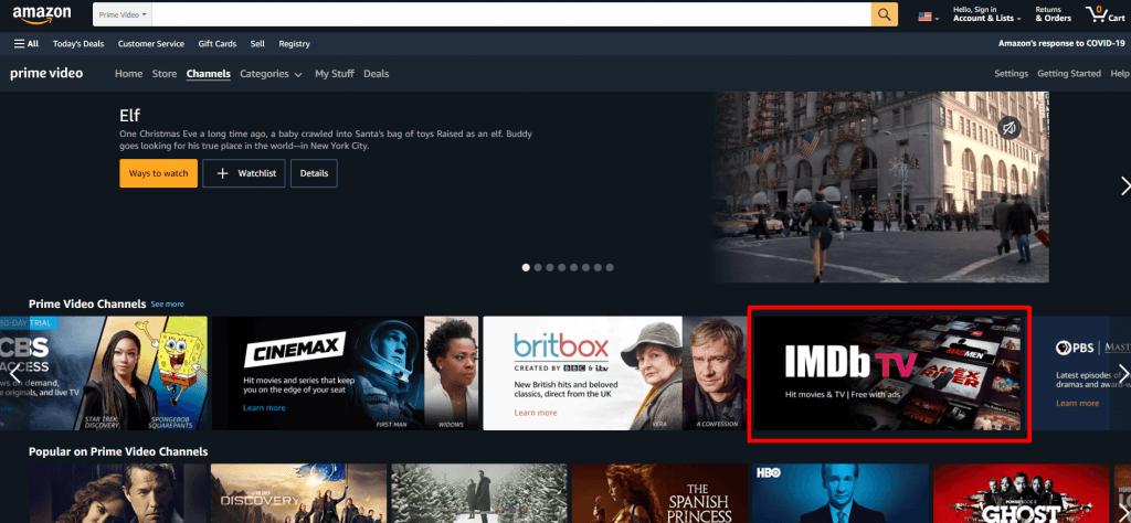 Chromecast IMDb TV