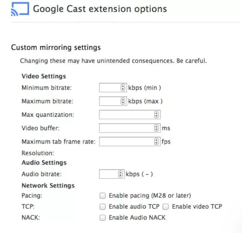 Google cast extension options - Chromecast Lagging