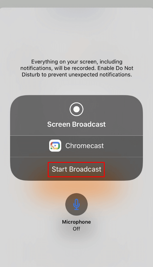 start broadcast - Chromecast JW Player