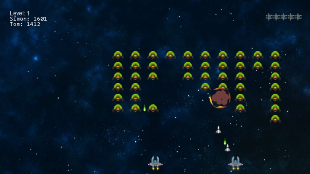 Alien Invaders Chromecast Game