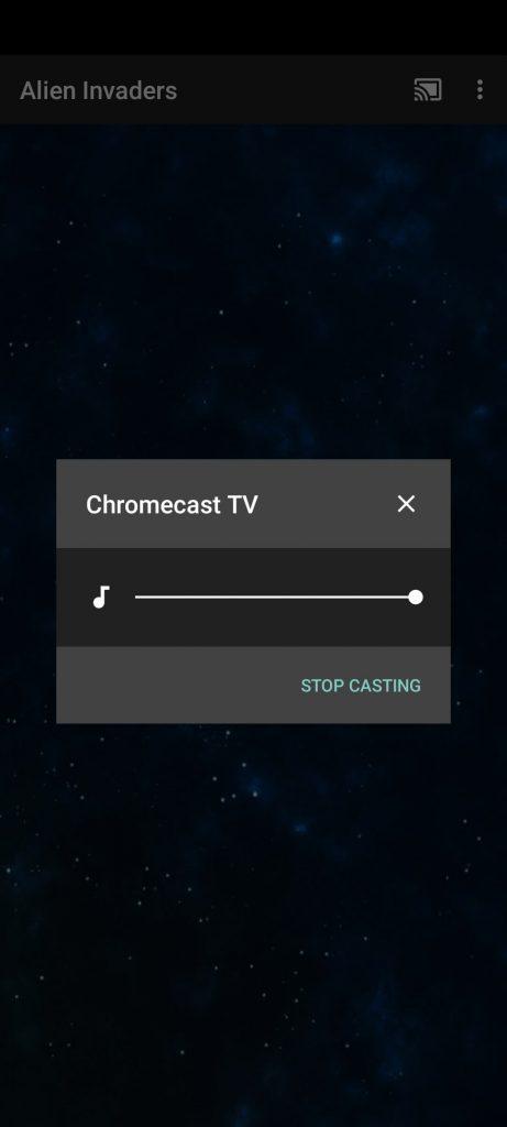 Alien Invaders Chromecast Game - music