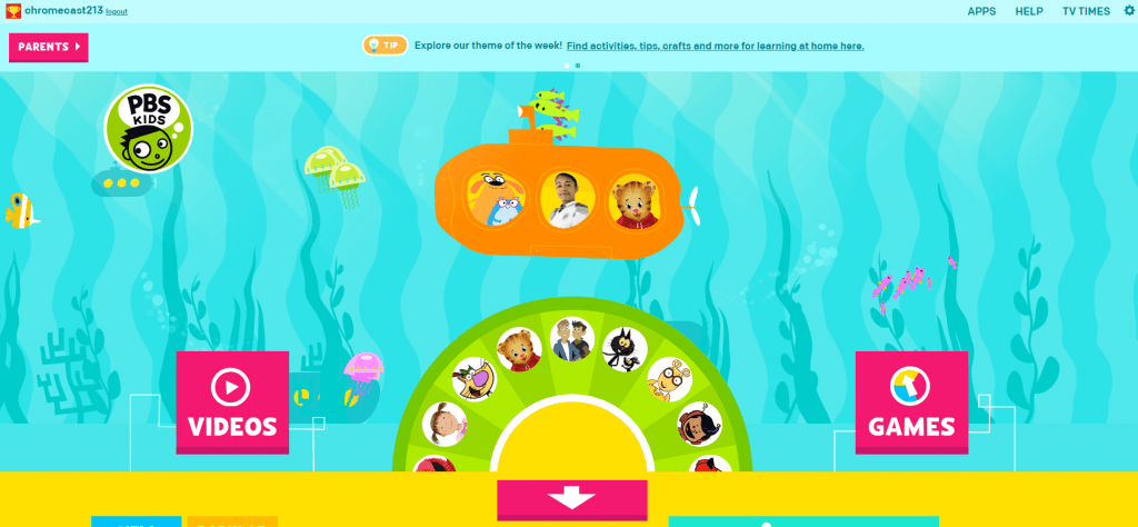 Chromecast PBS Kids