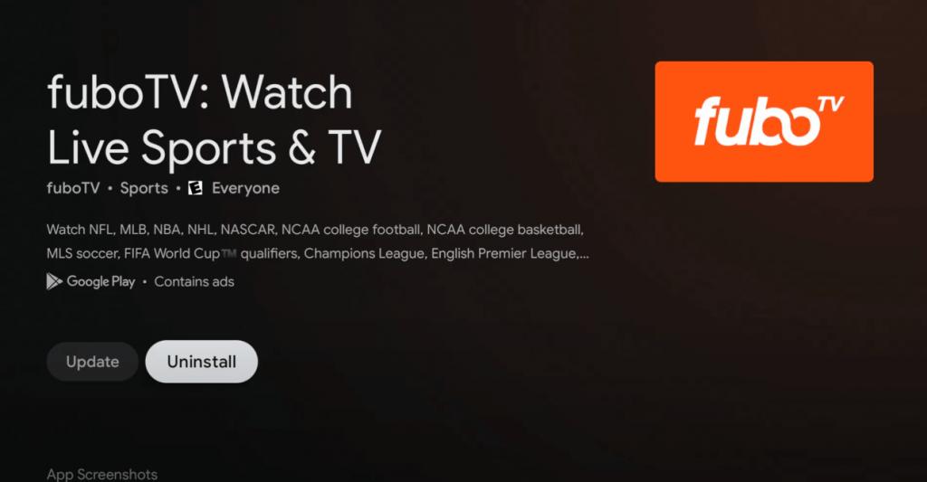 uninstall apps on Google TV