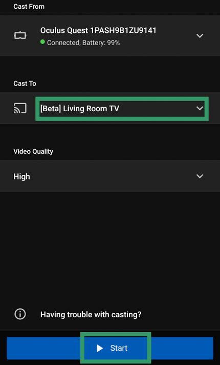 Chromecast Oculus Quest