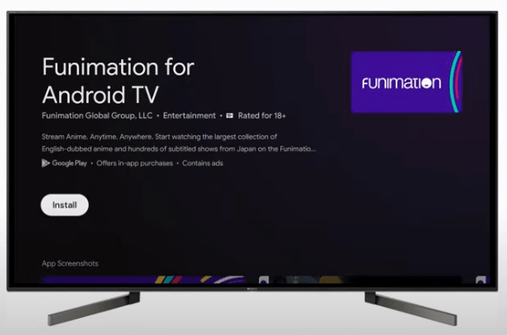 Install Funimation on Google TV