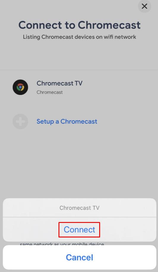 Mirror iPhone on Chromecast