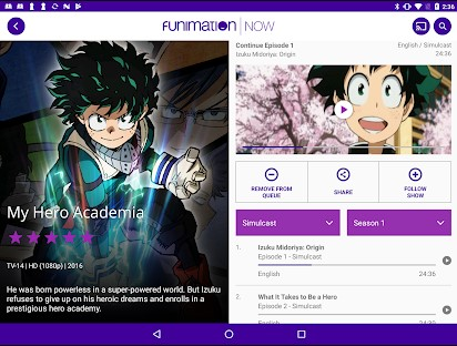 Cast Funimation to Google TV