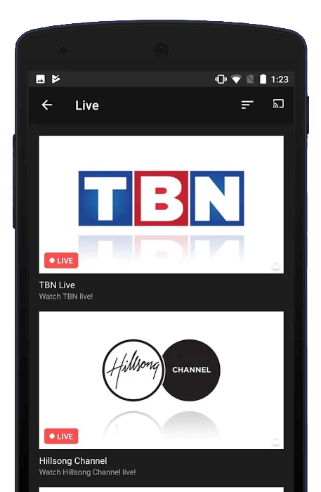 Chromecast TBN Using Android
