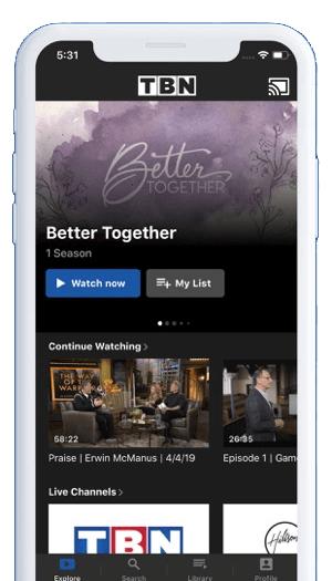 Chromecast TBN Using iPhone or iPad