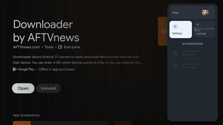 Downloader on Google TV
