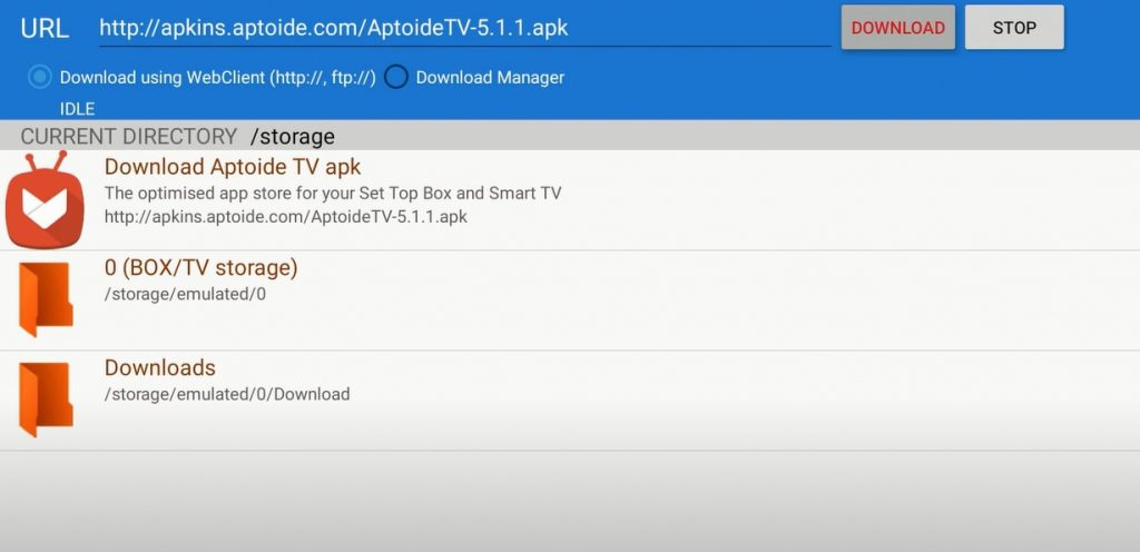 Download Aptoide TV on Google TV