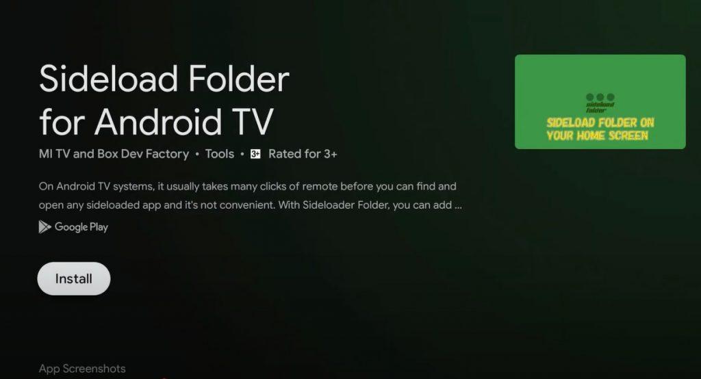 Install Sideload Folder for Android TV