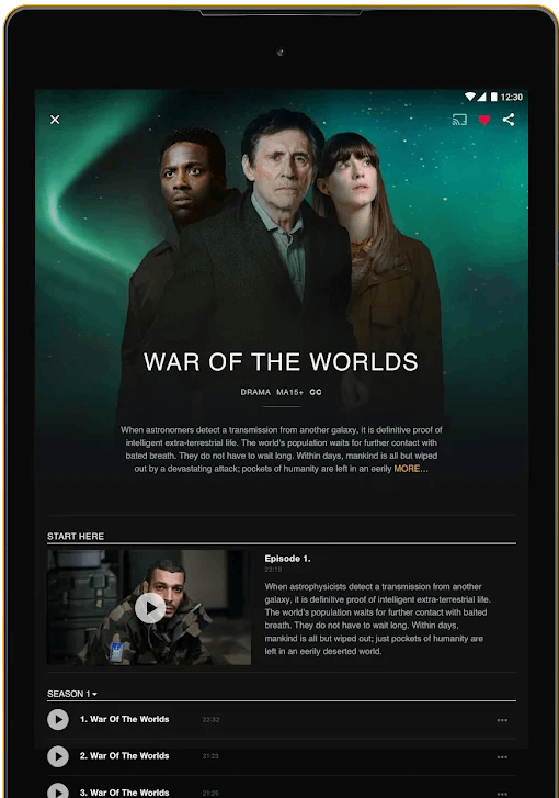 Cast SBS on Demand to Google TV