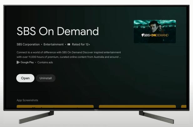 SBS on Demand on Google TV