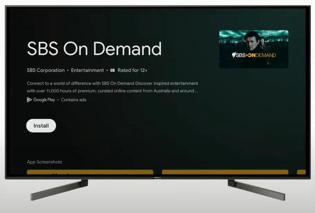Install SBS on Demand on Google TV